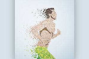 Abstract image of a Athlete running