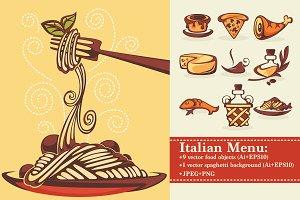 vector Italian menu