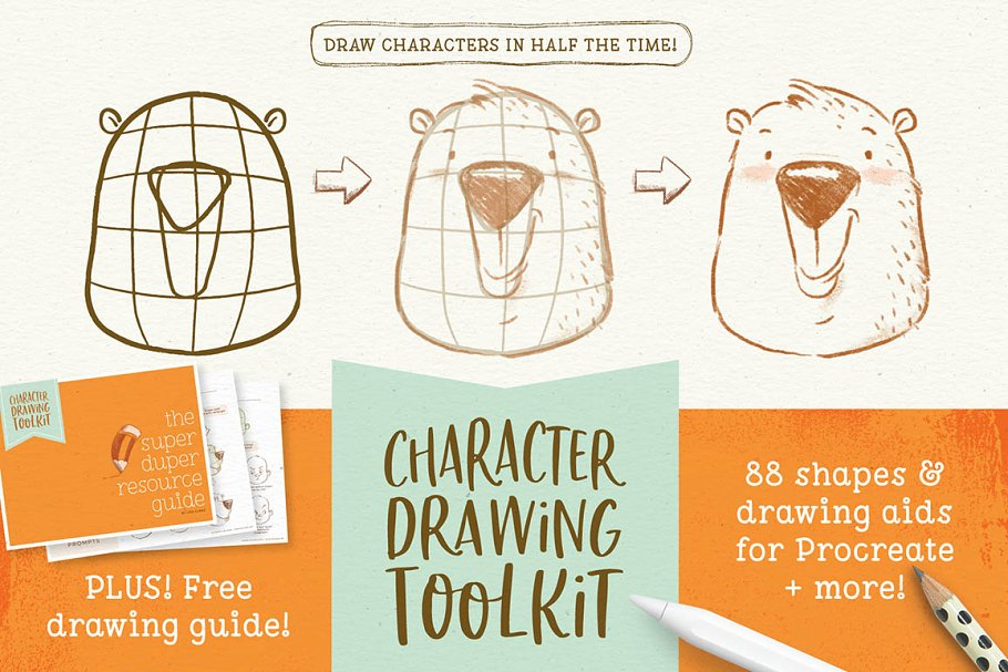 Procreate Character Drawing Toolkit ~ Illustrator Add-Ons