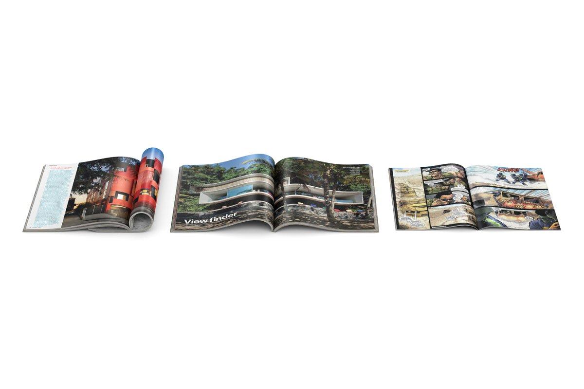 Open magazines 3d model