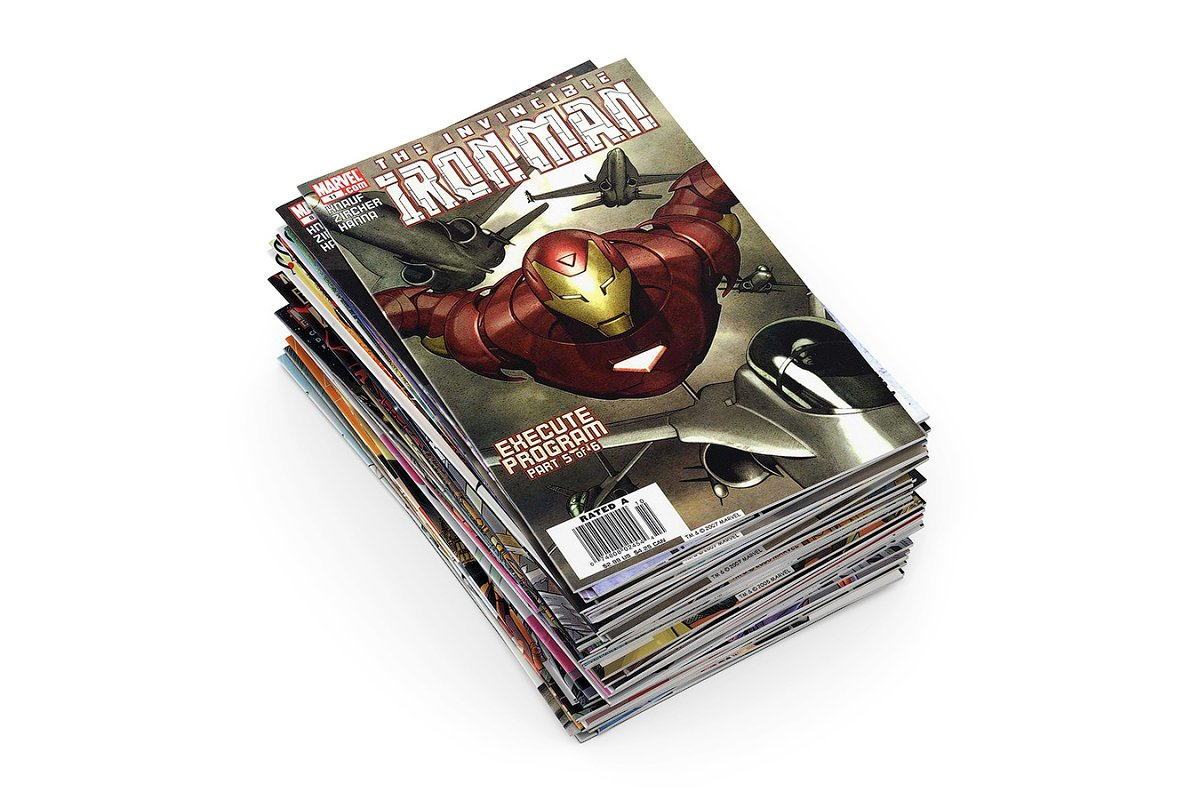 Comic books 3d model