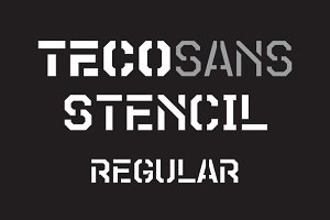 Teco Sans Stencil Regular