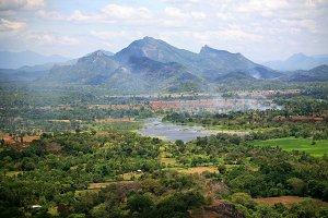 View from Sigiriya,Sri Lanka