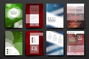 Set of brilliant templates