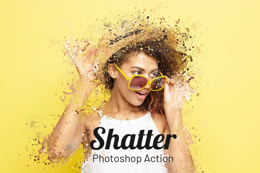 Shatter Photoshop Action