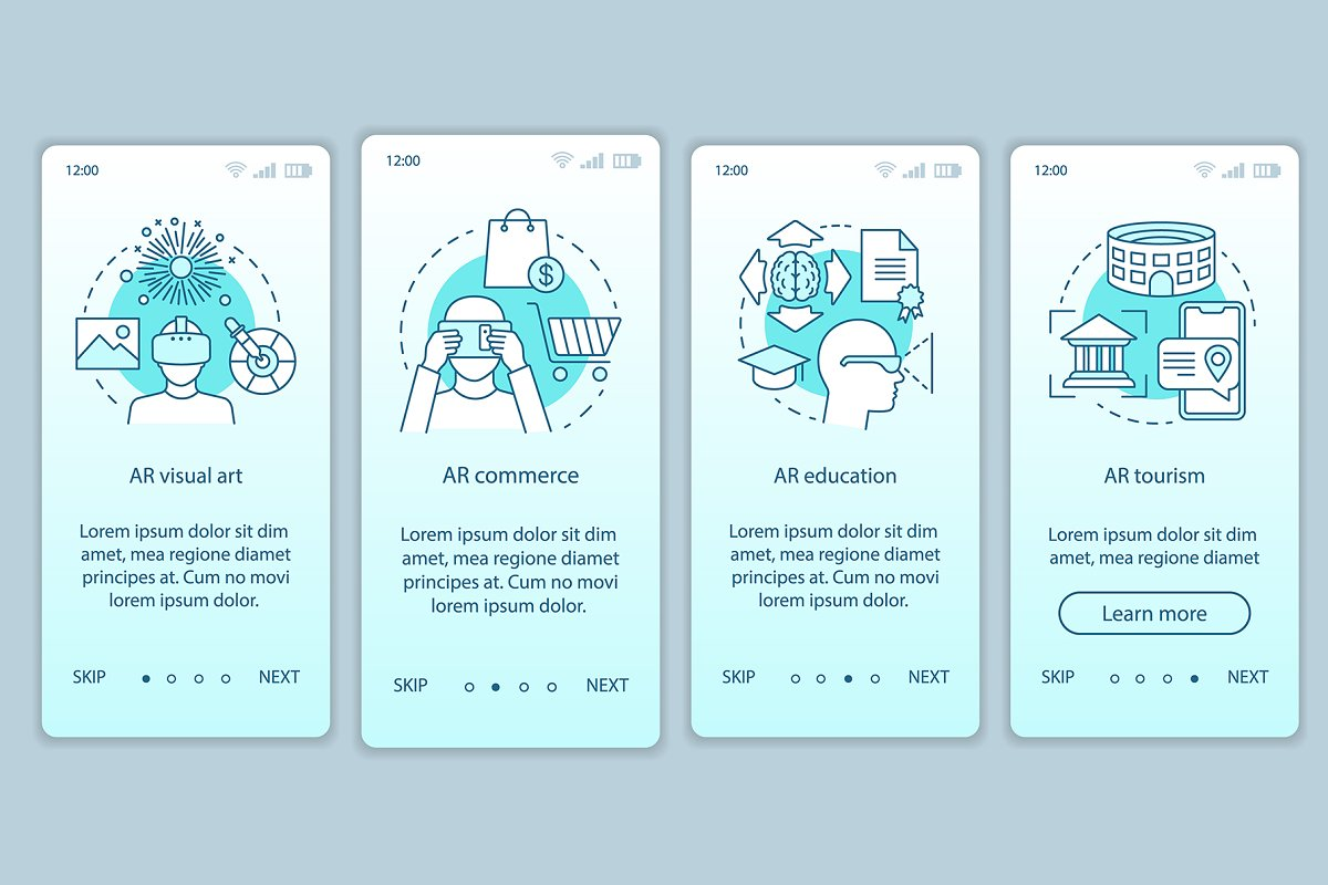 Augmented reality applying app pages