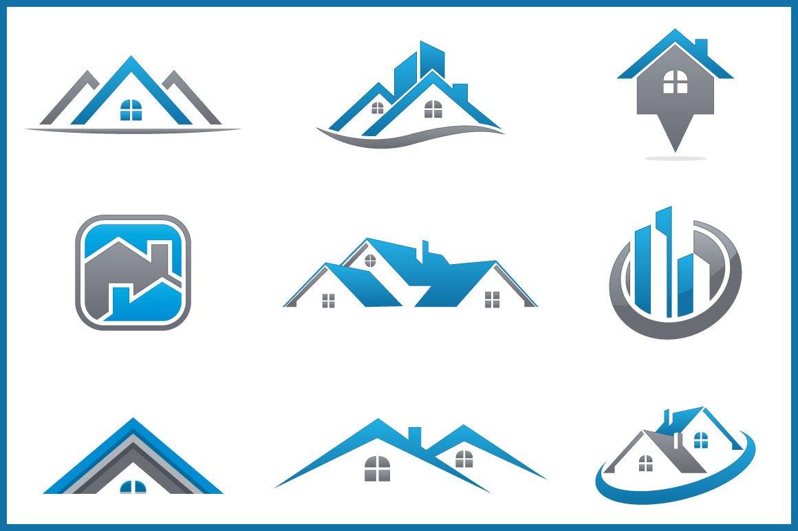 Real Estate Bundle: 9 Logos ~ Logo Templates ~ Creative Market
