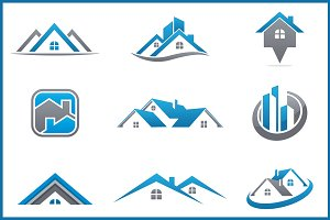 real estate bundle 9 logos logo templates creative market