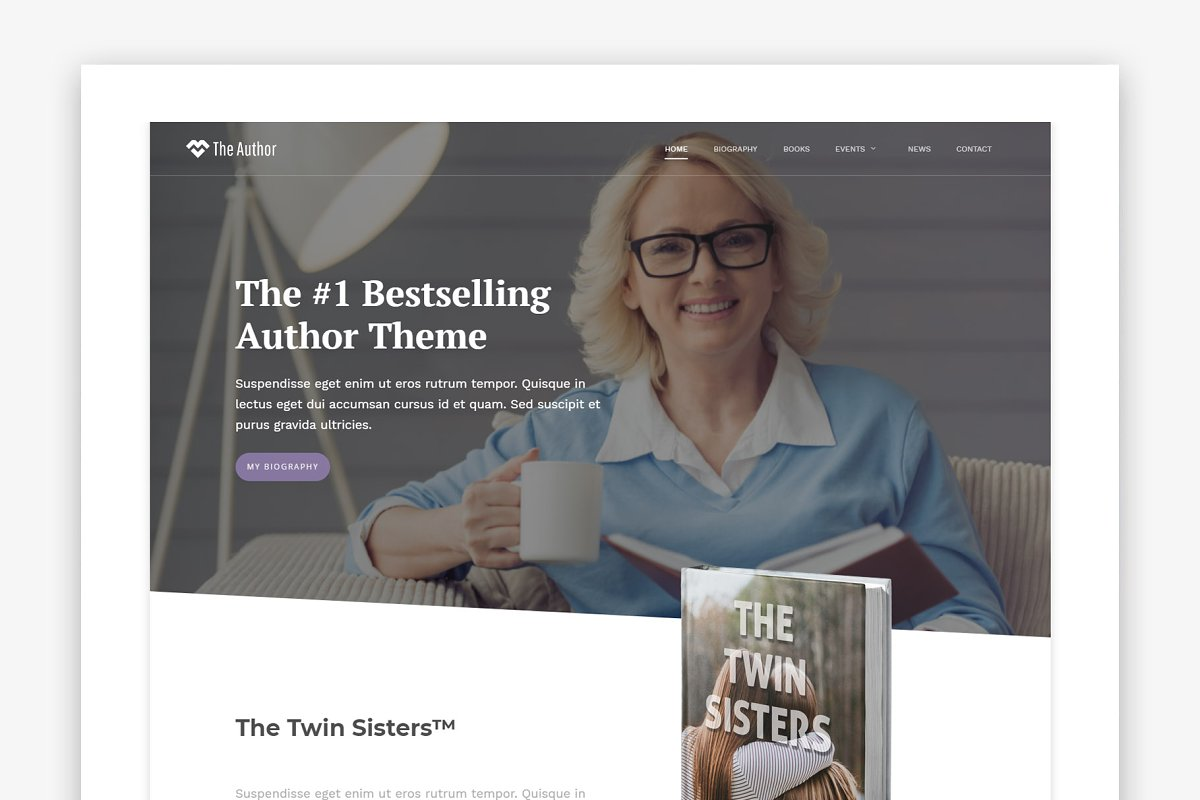 The Author - WordPress Author Theme in WordPress Business Themes
