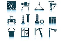 Set of 12 Construction Icons