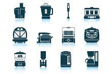 Set of 12 Kitchen Equipment Icons