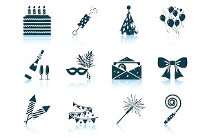Set of 12 Ccelebration Icons