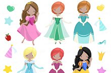 Fairytale Princess Clipart + Vectors