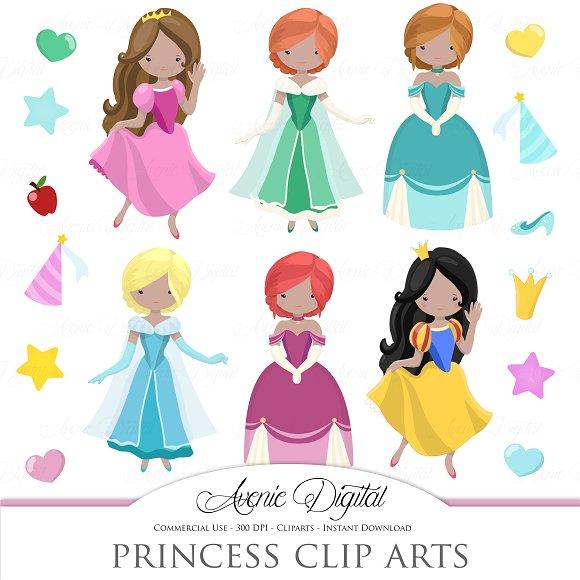 Fairytale Princess Clipart + Vectors
