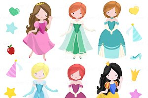 Fairytale Princess Clip art + Vector