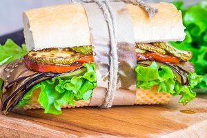 Vegetable vegetarian sandwich