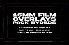 16mm Film Overlay Textures