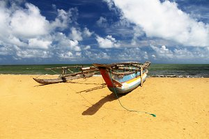 Fishing Boat in the beach,Sri Lanka