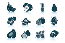 Set of 12 Fruit Icons