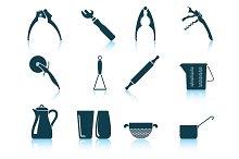 Set of 12 Utensil Icons