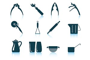 Set of 12 Utensil Icons