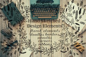 Hand sketched design pack