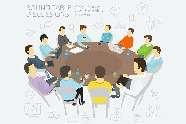 Round-table talks.