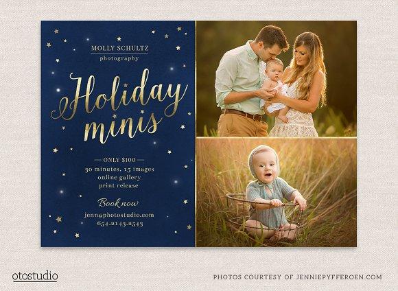 Winter Holidays Minis Flyer Template Flyer Templates Creative Market