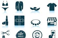 Set of 12 Shopping Icons