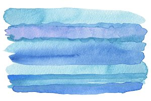 Abstract watercolor strip paint