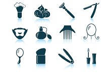 Set of 12 Barber Icons