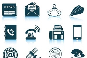 Set of 12 Communication Icons