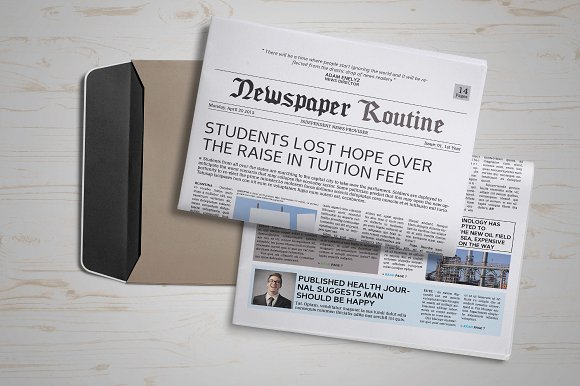 Newspaper Template 14 Pages Magazine Templates Creative Market