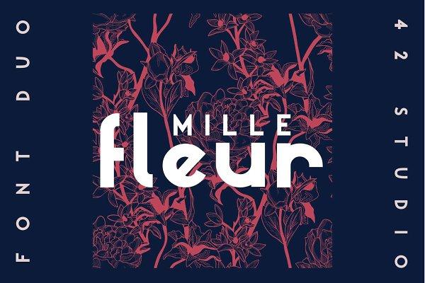 Mille Fleur | Sans Serif Font Duo