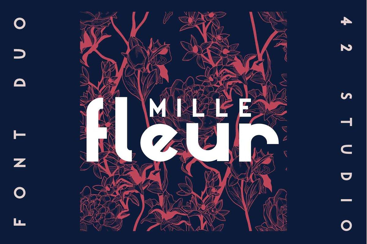 Mille Fleur | Sans Serif Font Duo in Sans-Serif Fonts - product preview 8