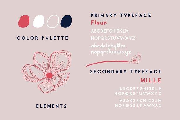 Mille Fleur | Sans Serif Font Duo in Sans-Serif Fonts - product preview 3