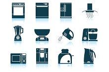 Set of 12 Kitchen Equipment Icon