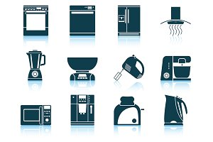 Set of 12 Kitchen Equipment Icon