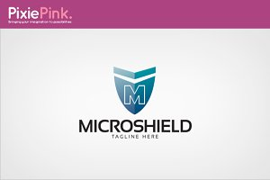 Micro Shield Logo Template