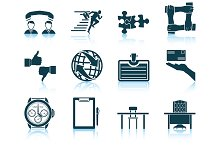 Set of 12 Business Icons