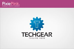 Tech Gear Logo Template