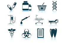 Set of 12 Medical Icons.