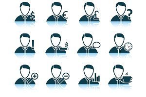 Set of 12 Business People Icon