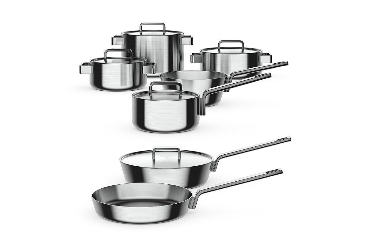 Steel cookware 3d model