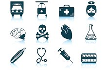 Set of 12 Medical Icons