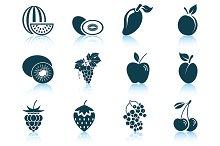 Set of 12 Fruit icons