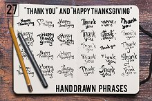 Handdrawn Thanksgiving Set
