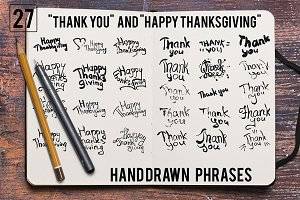 Handdrawn Thanksgiving Set