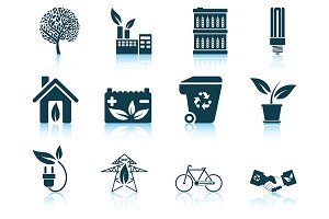 Set of 12 Ecological Icon