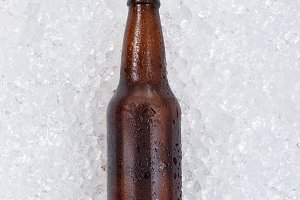 Bottled beer being chilled